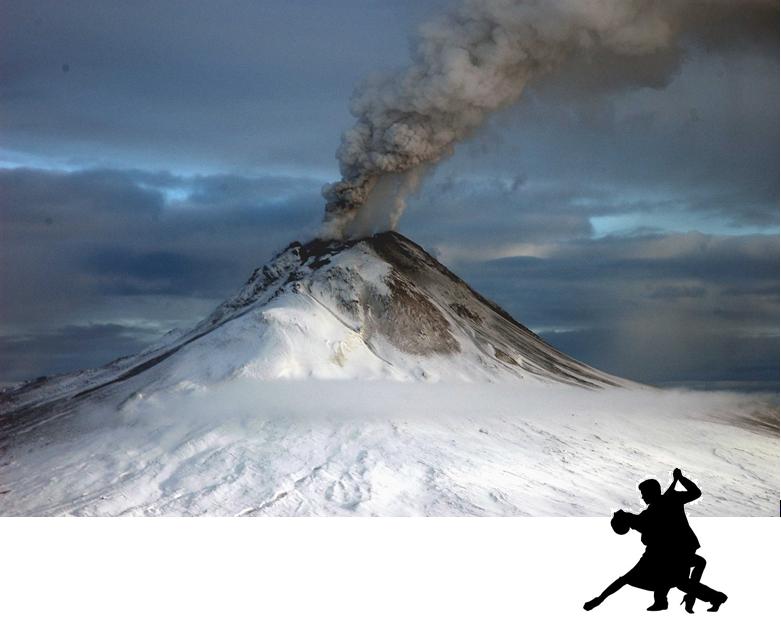 dancing by volcano